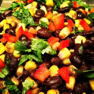 Black bean, quinoa and corn salad